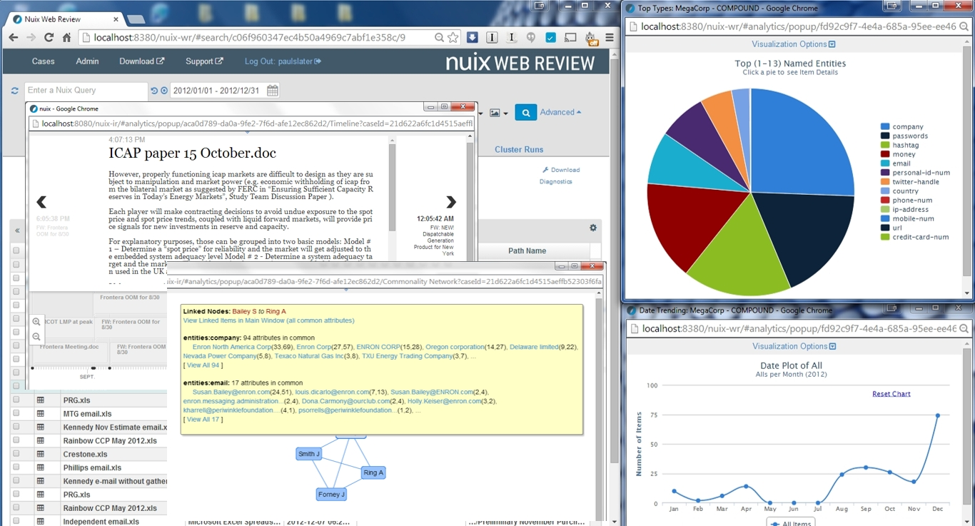 Use multiple visualizations at once, with all windows and result sets updating dynamically as you go.